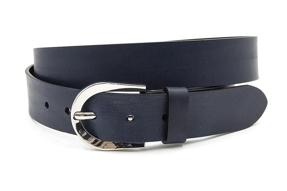 Thimbly Belts Dames riem blauw leder