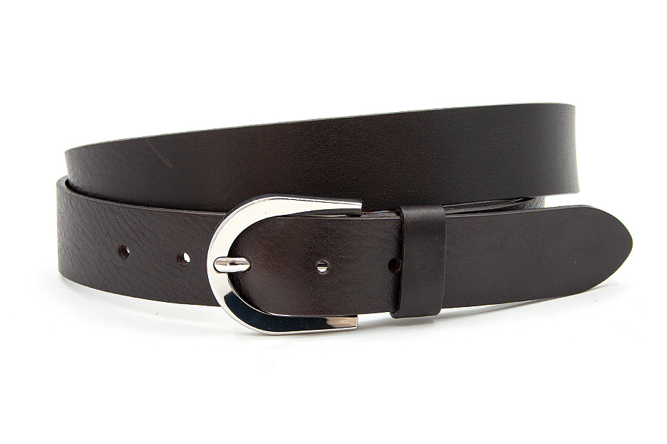 Thimbly Belts Damesceintuur leder donker bruin