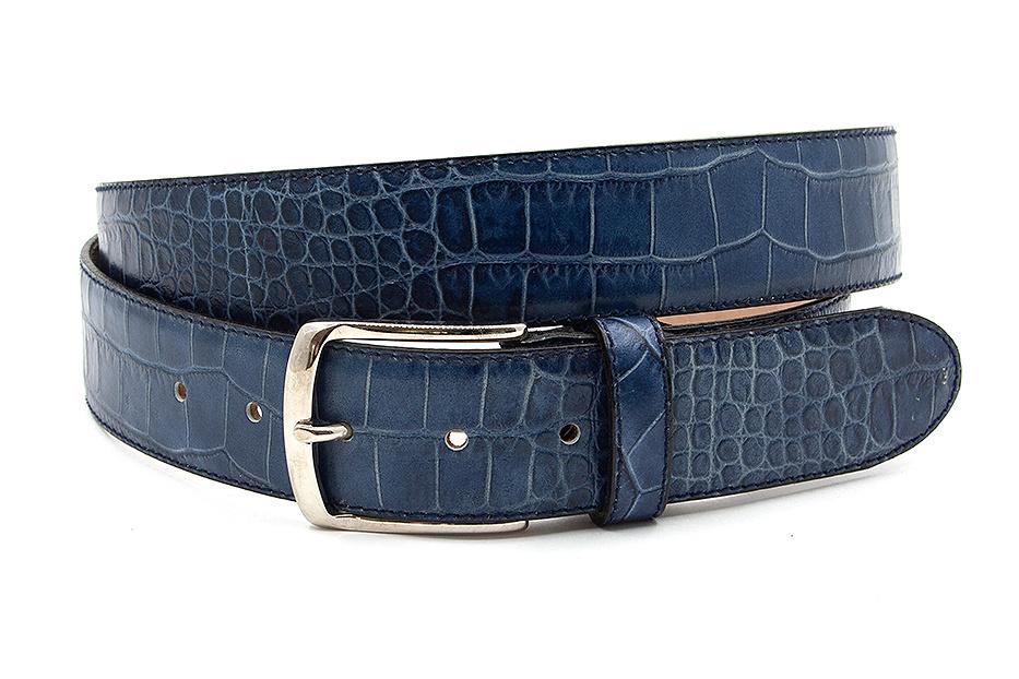 JV Belts Mooie blauwe jeansriem