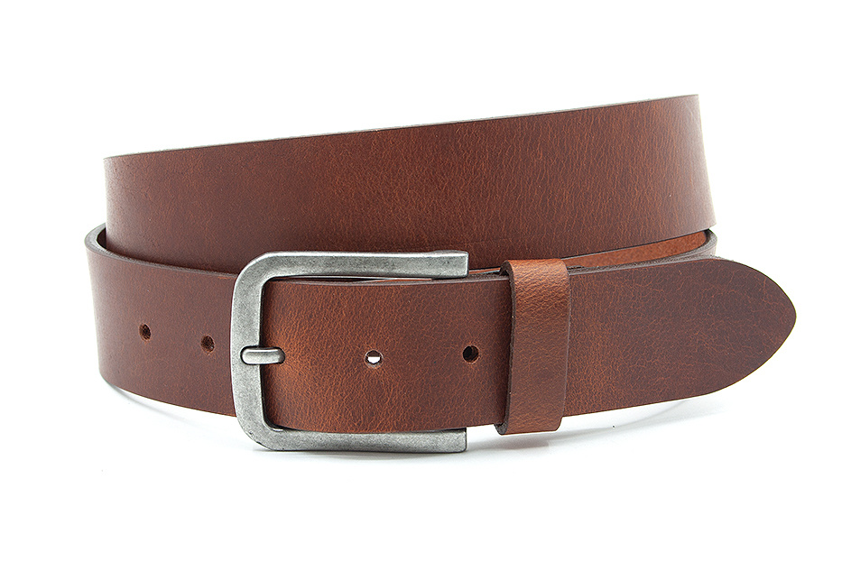 Thimbly Belts Heren jeans riem cognac