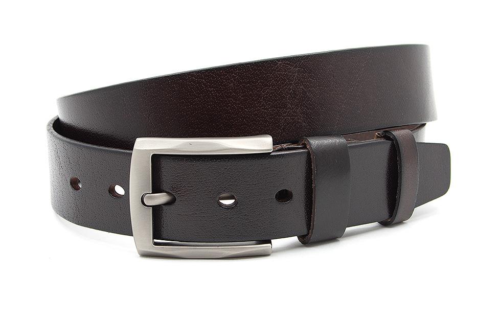 Thimbly Belts Heren jeans riem zwart met nieten