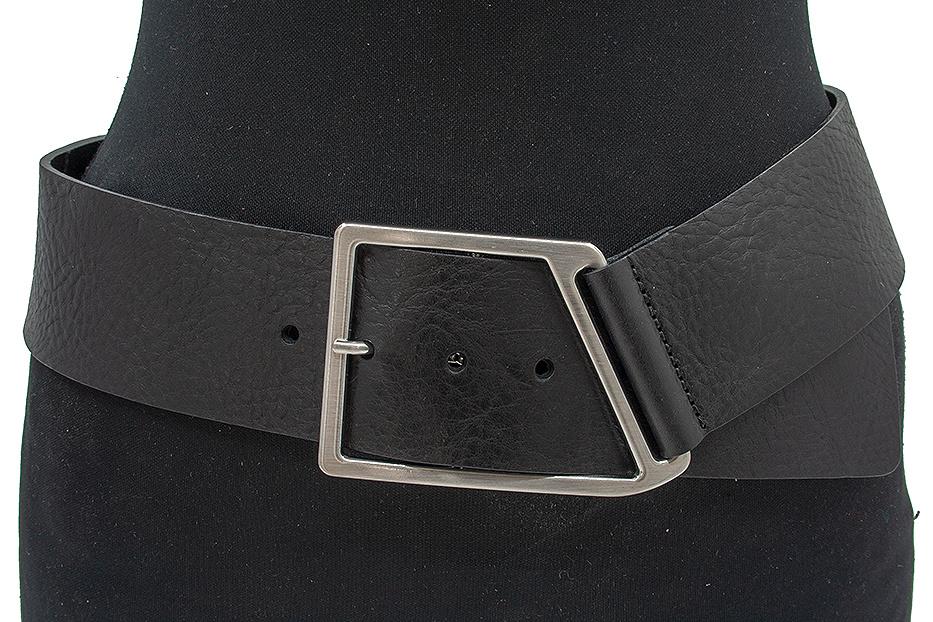 Thimbly Belts Afhang ceintuur zwart soepel leder