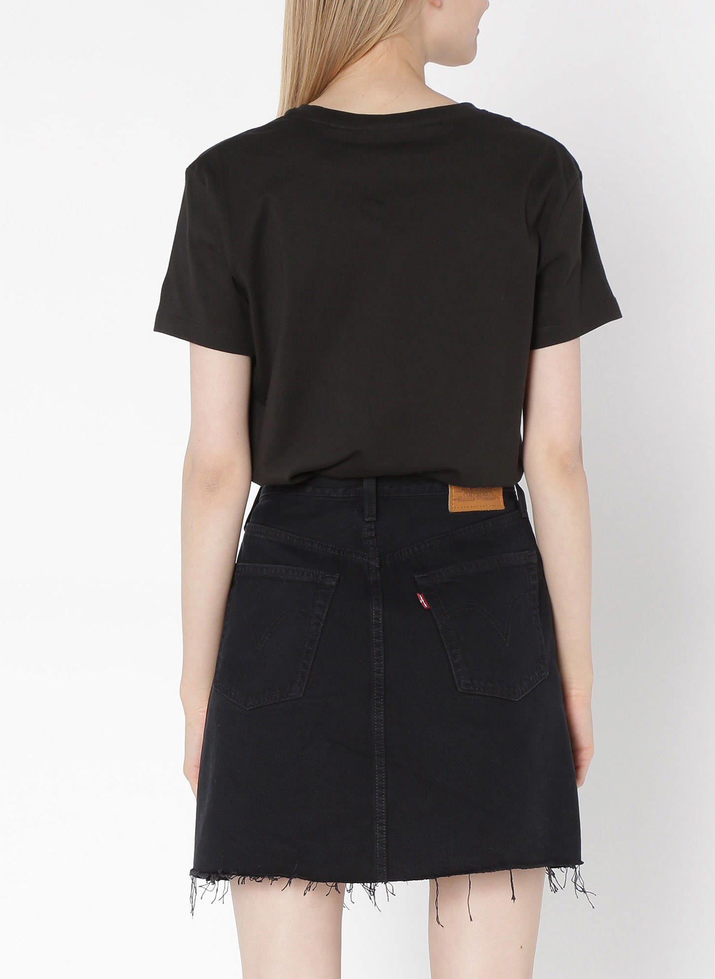 LEVIS hr decon iconic bf skirt-2
