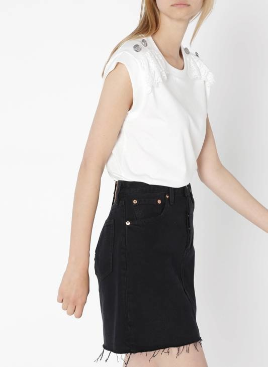 LEVIS hr decon iconic bf skirt-5