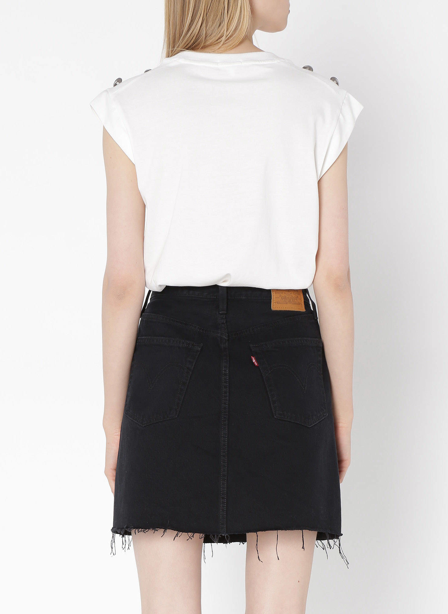 LEVIS hr decon iconic bf skirt-6