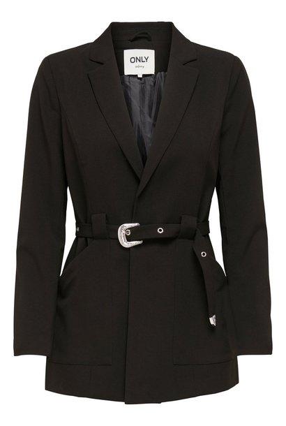 PEPITES only blazer ceinture bella-rosy
