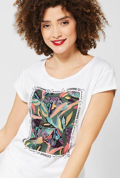 A314678 flower partprint shirt
