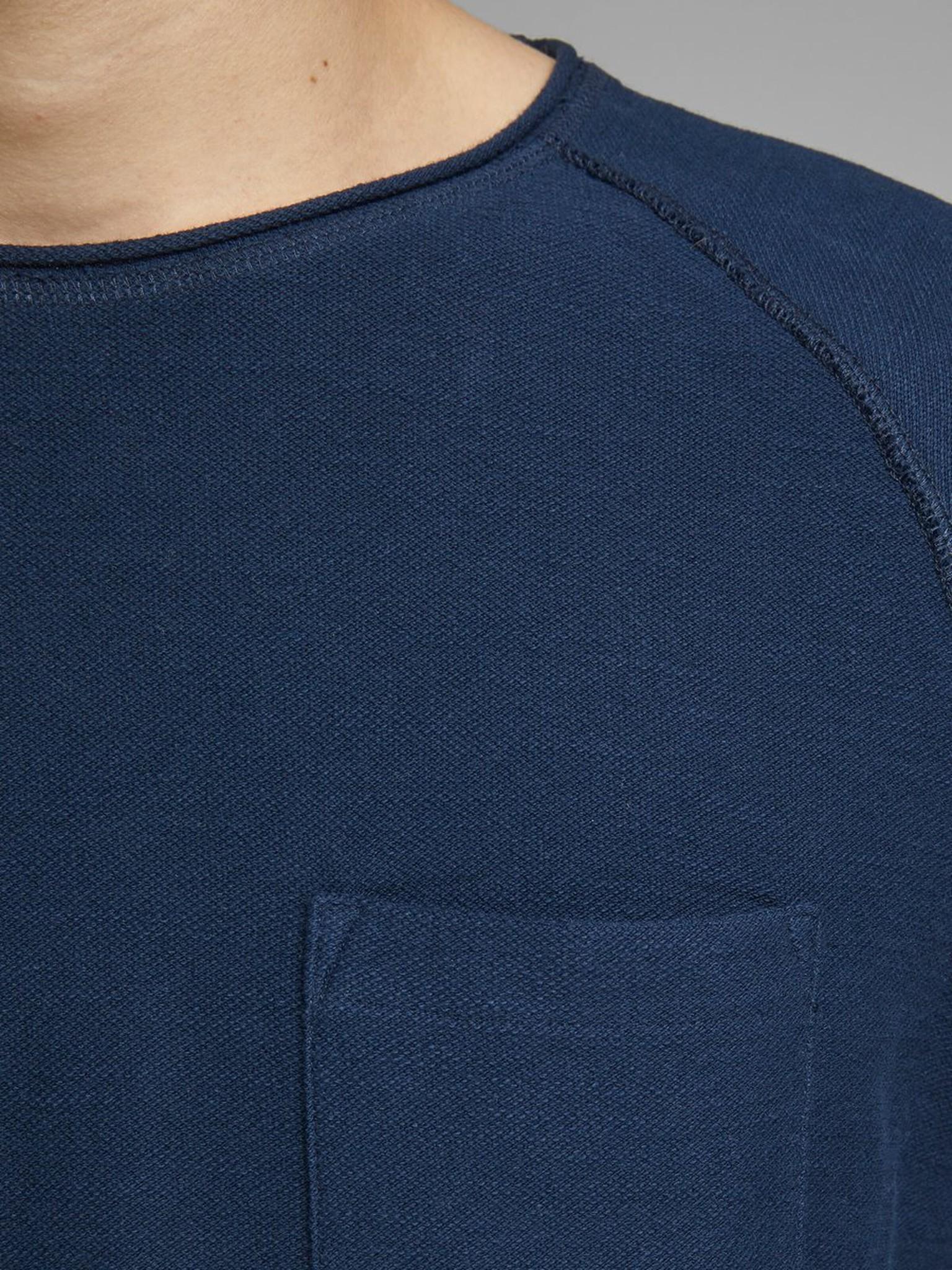 JACK & JONES col ras-du-cou sweat-shirt-5