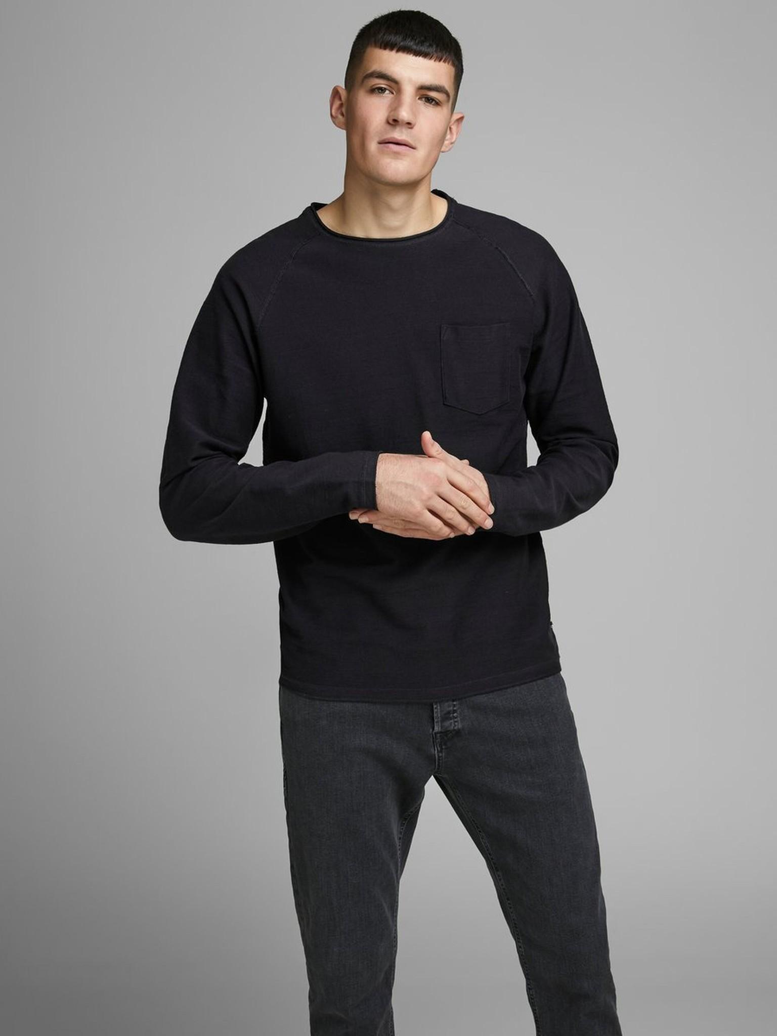 JACK & JONES col ras-du-cou sweat-shirt-7
