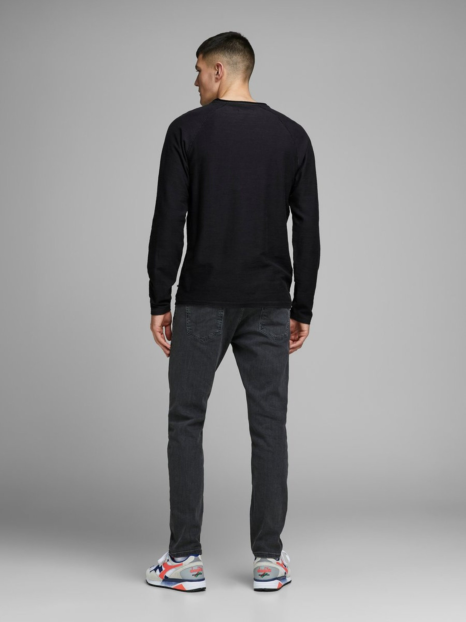 JACK & JONES col ras-du-cou sweat-shirt-8