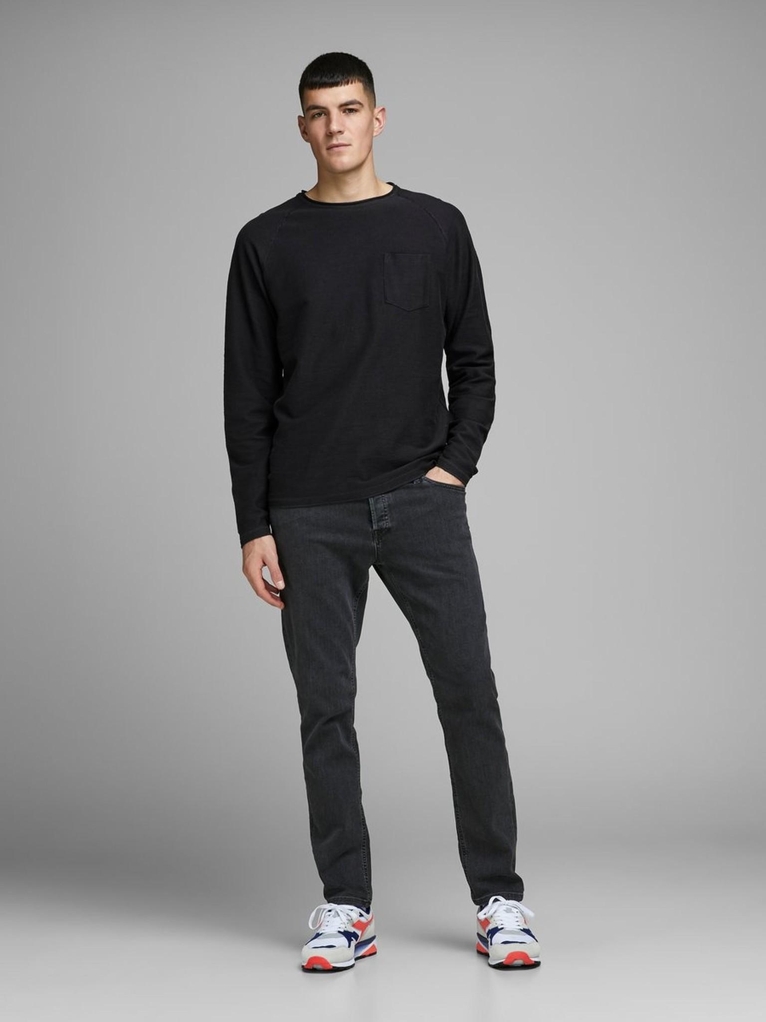 JACK & JONES col ras-du-cou sweat-shirt-9