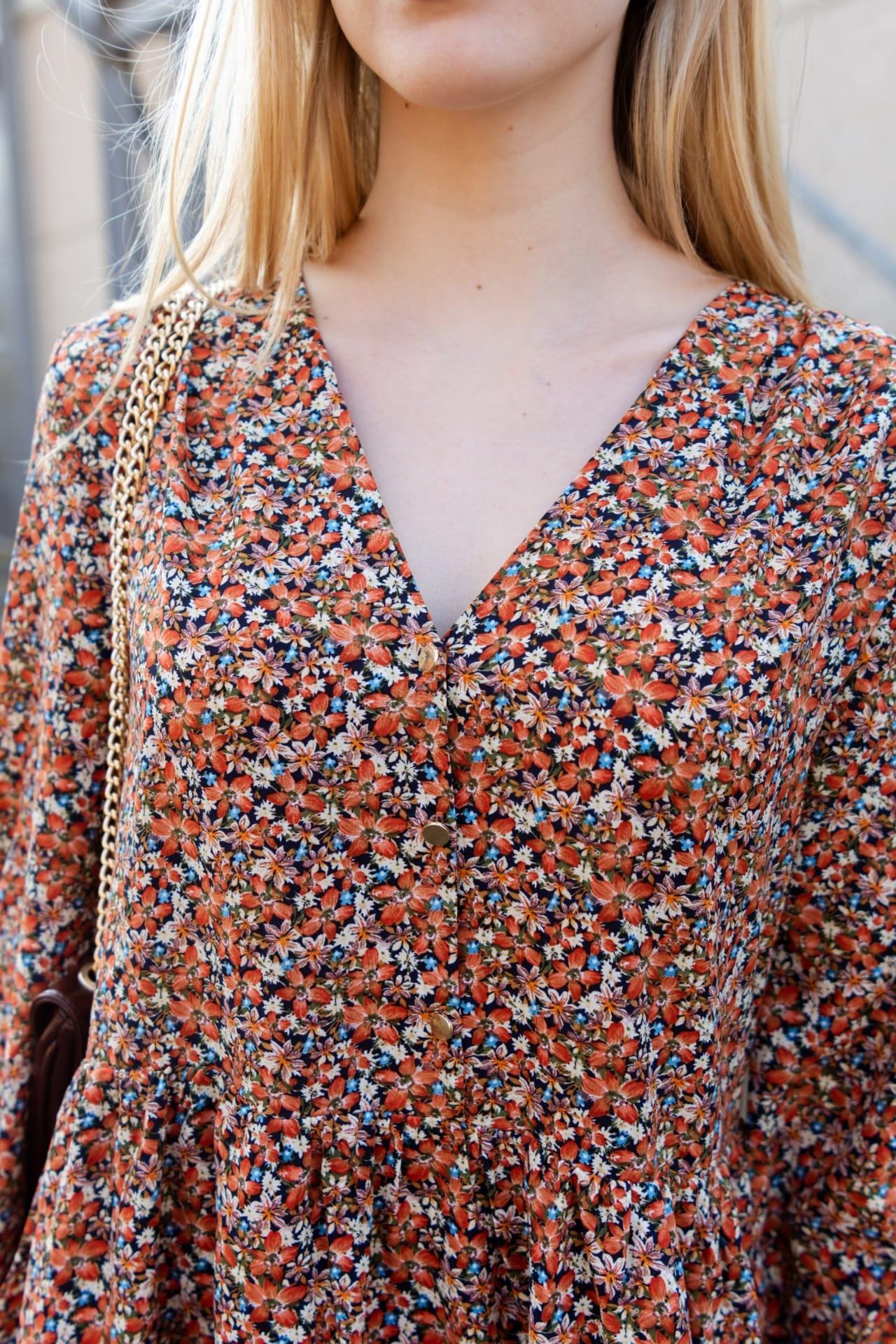PEPITES  robe fleur orange-2