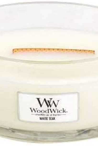 WOOD WICK ellipse teck blanc