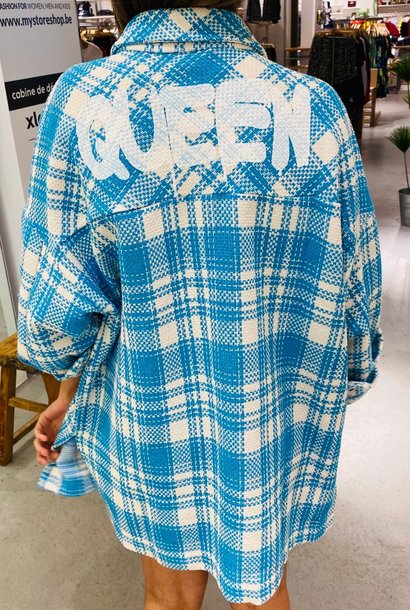 PEPITES veste queen bleu