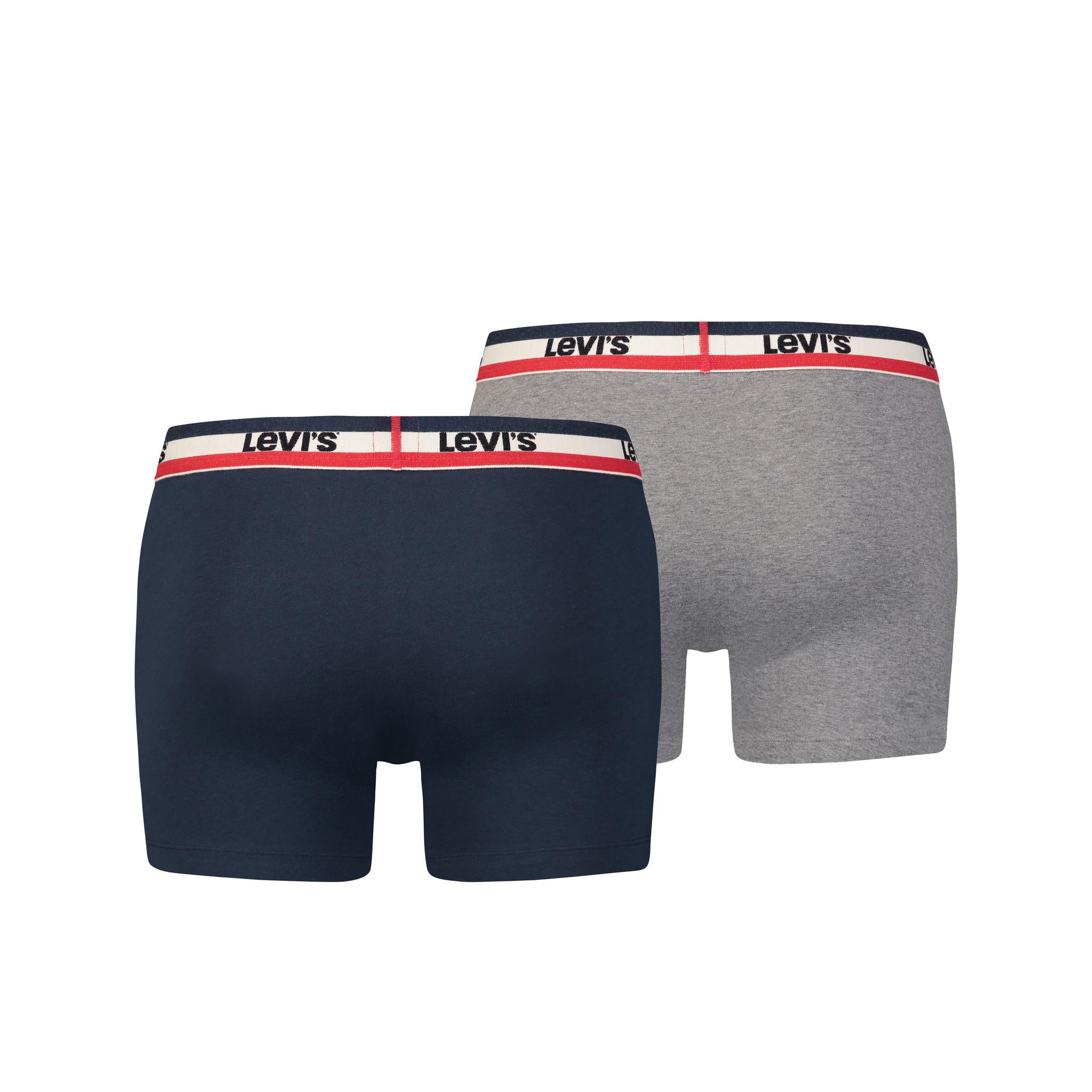LEVIS boxer lot de 2 bleu et gris-2