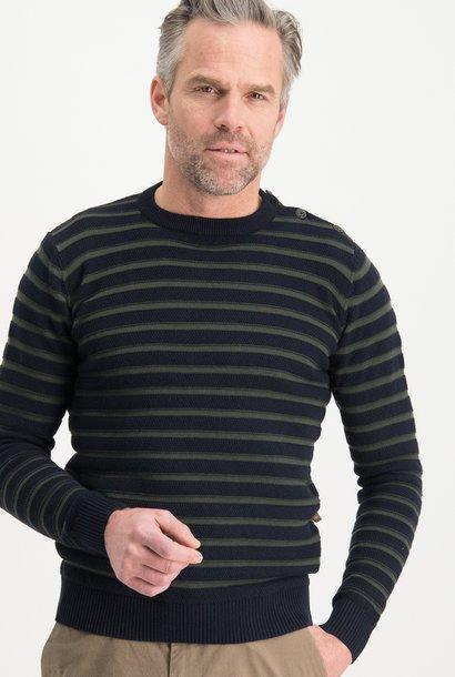HAZE & FINN knit striped button