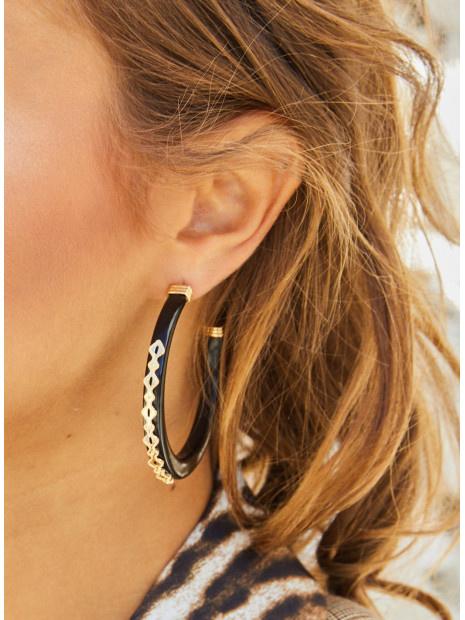 MYA BAY boucles d'oreilles galapagaos ecailles de tortu-2