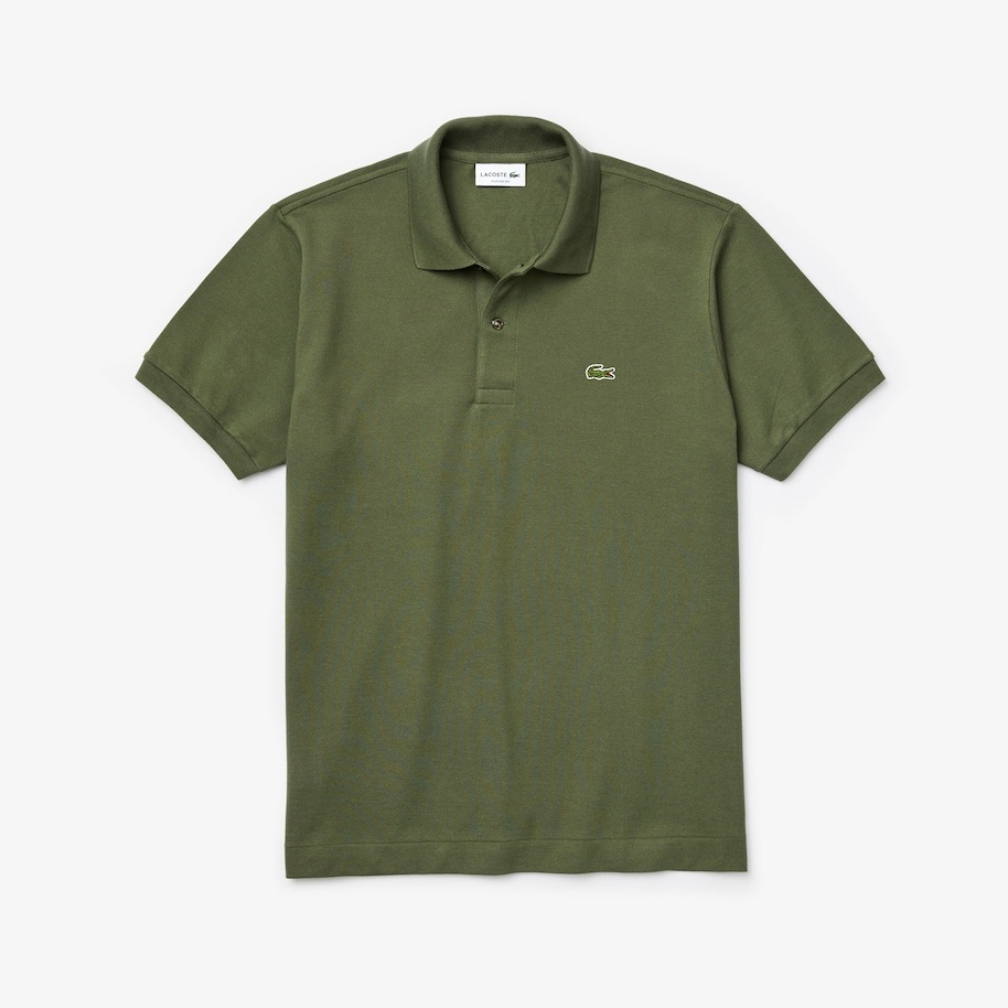 LACOSTE polo classique vert kaki-4