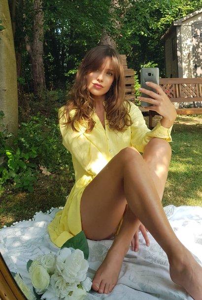PEPITES robe yellow