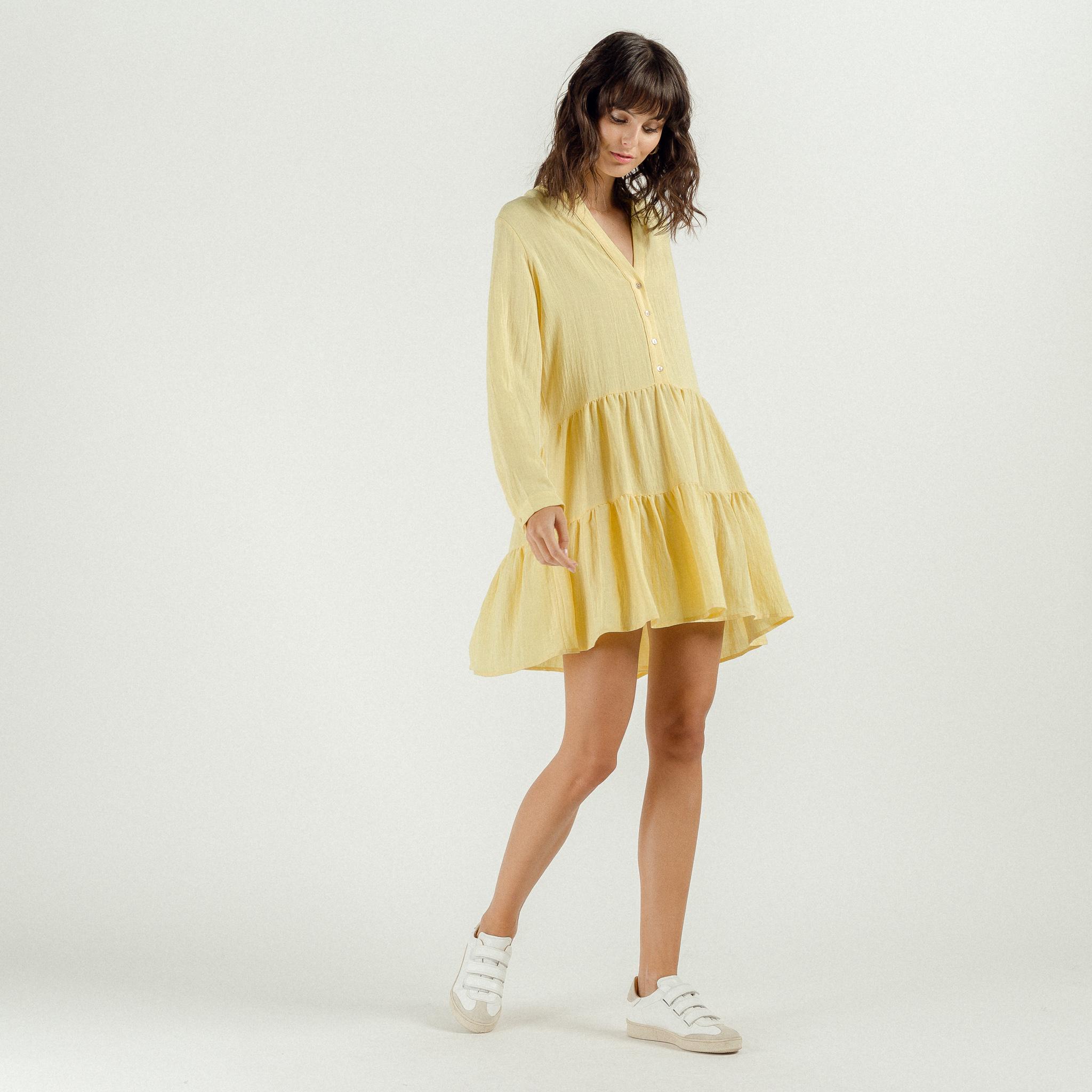 PEPITES robe yellow-3