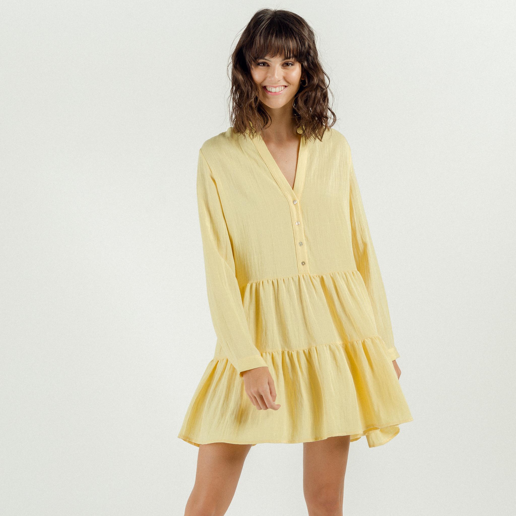 PEPITES robe yellow-5