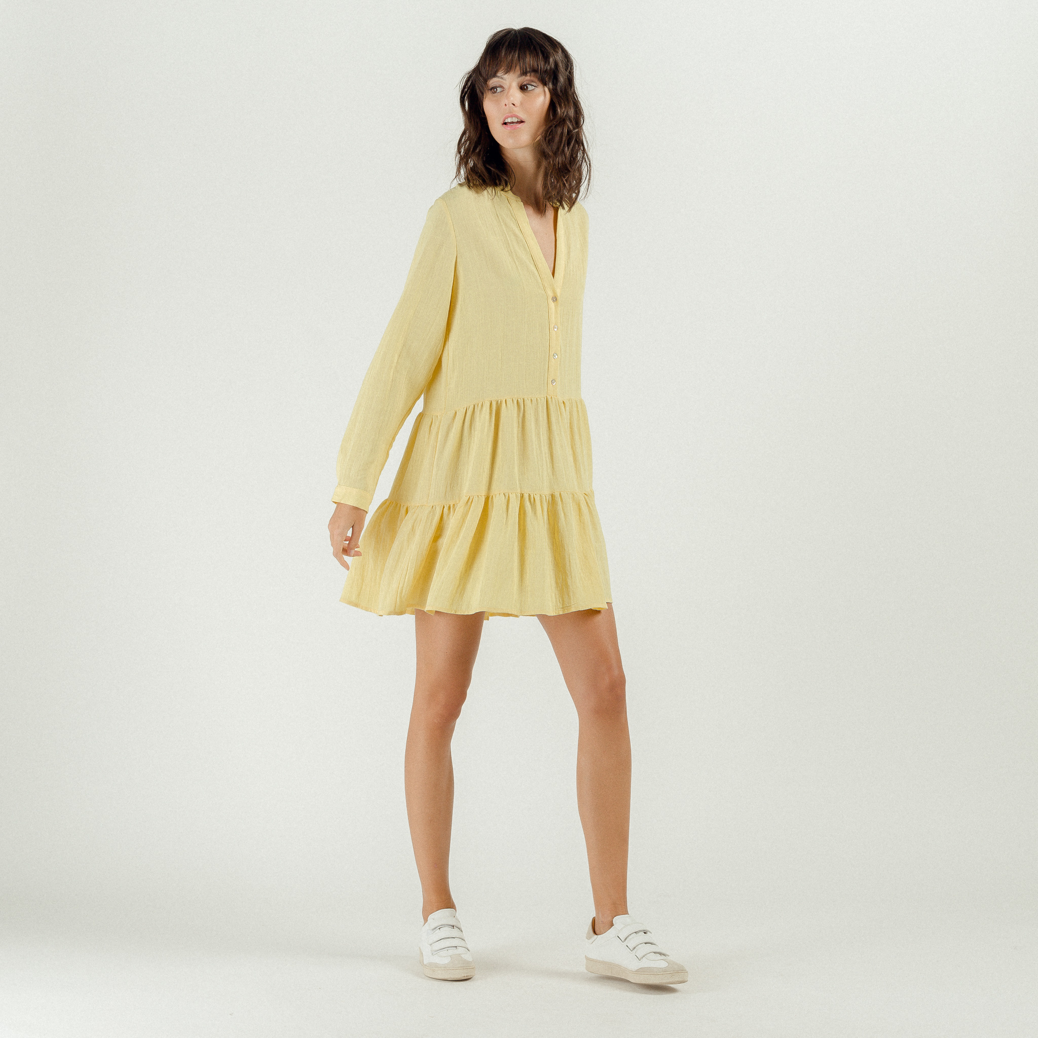 PEPITES robe yellow-7