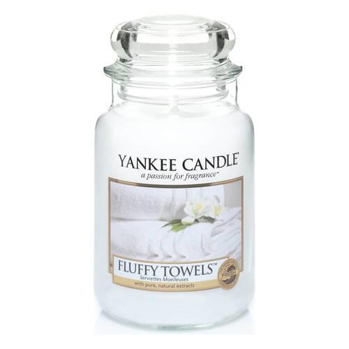 YANKEE CANDLE grande jarre fluffy towels-1