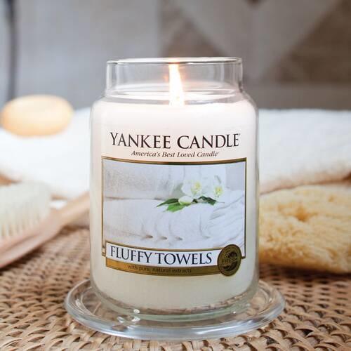 YANKEE CANDLE grande jarre fluffy towels-2
