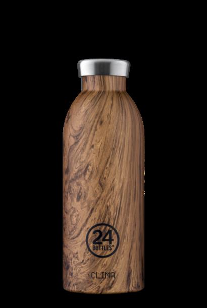 24 BOTTLES gourde bois de séquoia 500ml