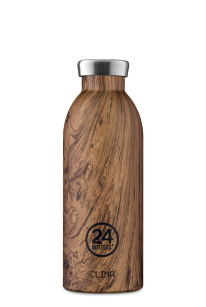 24 BOTTLES gourde clima bois de séquoia 500ml