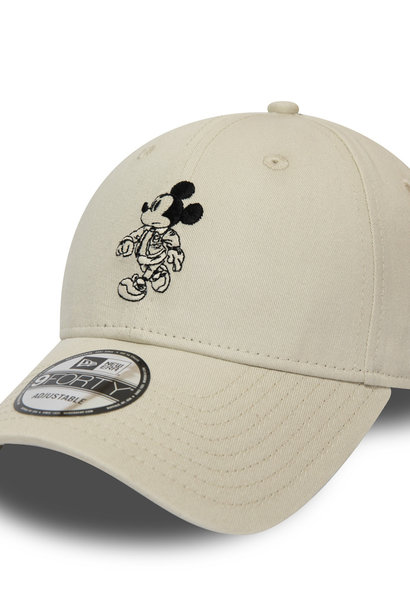 NEW ERA 9forty mickey mouse street blanc