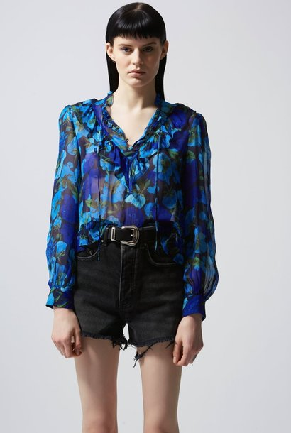 THE KOOPLES top fluide imprimé fleuri