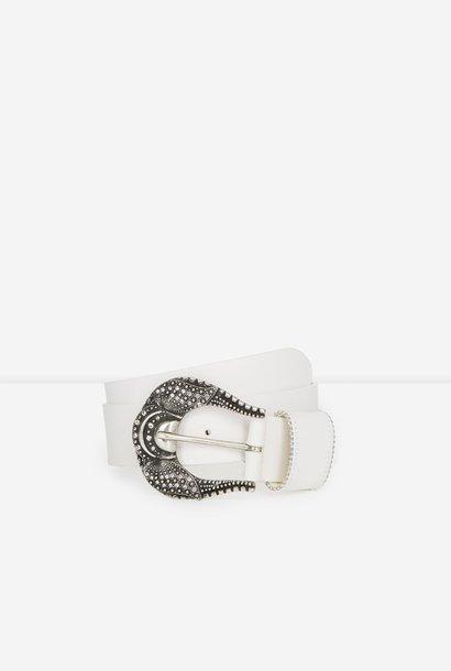THE KOOPLES ceinture cuir blanche