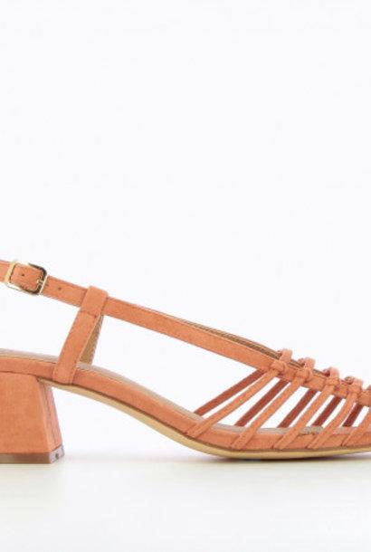 VANESSA WU sandales à talon saumon