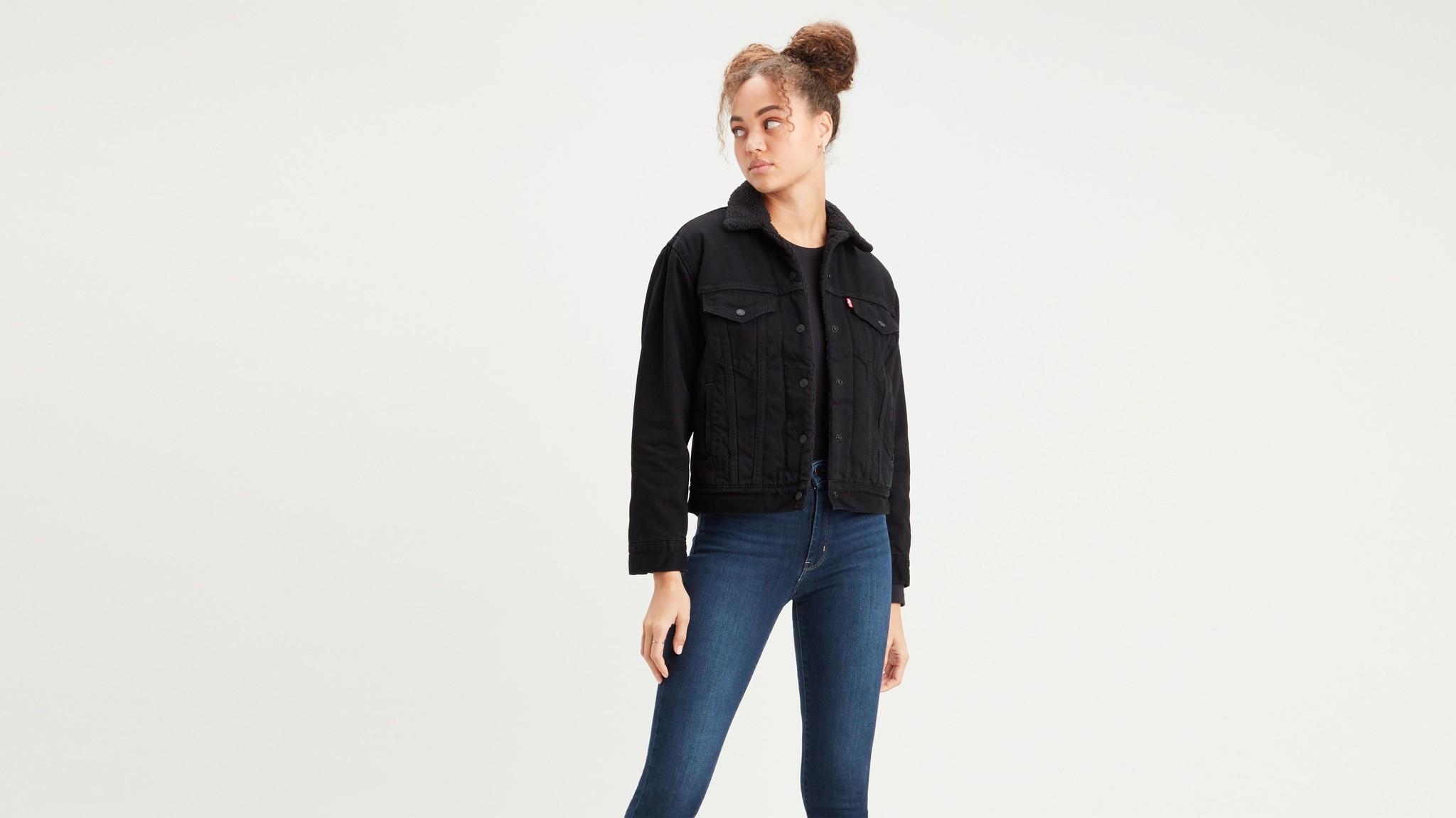 LEVIS veste en jeans trucker black-1