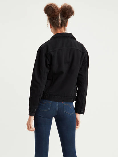 LEVIS veste en jeans trucker black-3