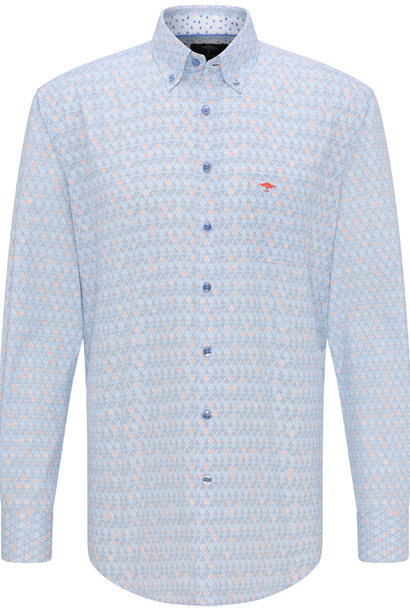 FYNCH chemise bleu mandarine