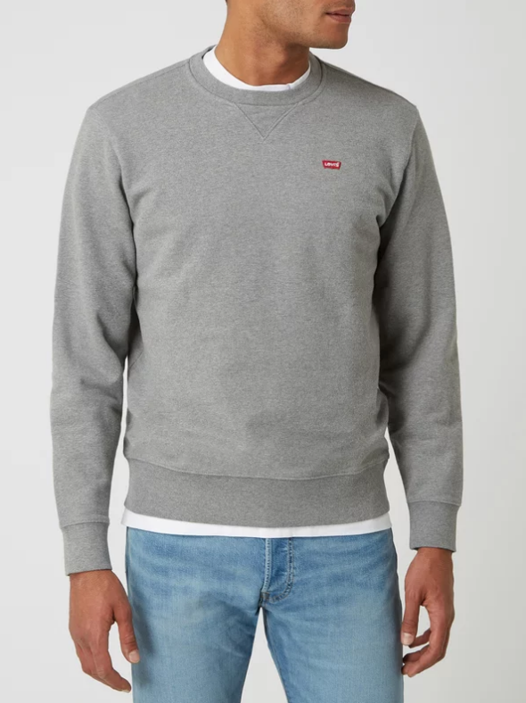 LEVIS sweat-shirt aspect mélangé-1