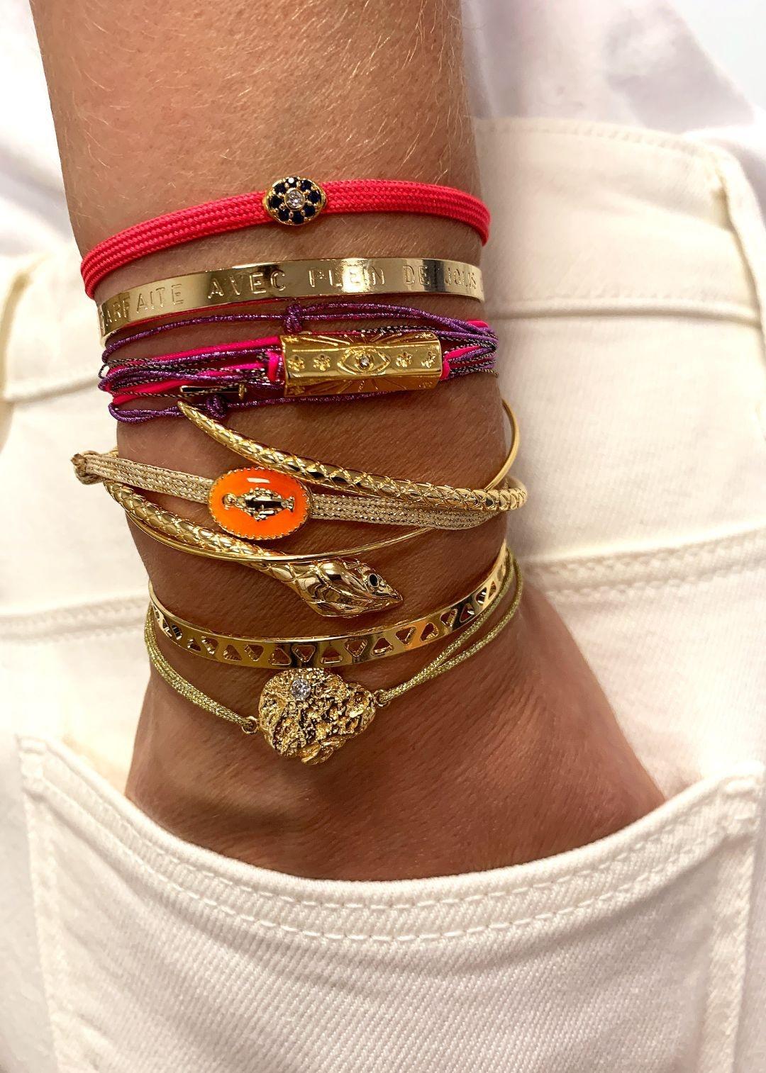 MYA BAY   bracelet pépite d'or-3