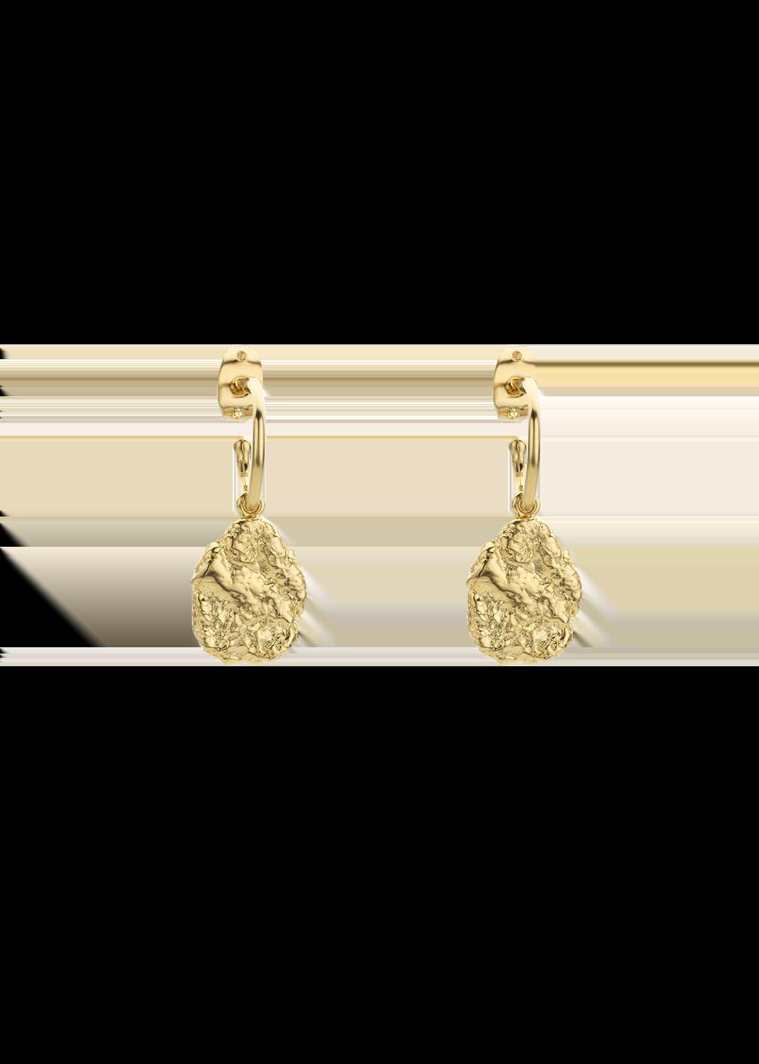 MYA BAY boucles d'oreilles pépites d'or-1