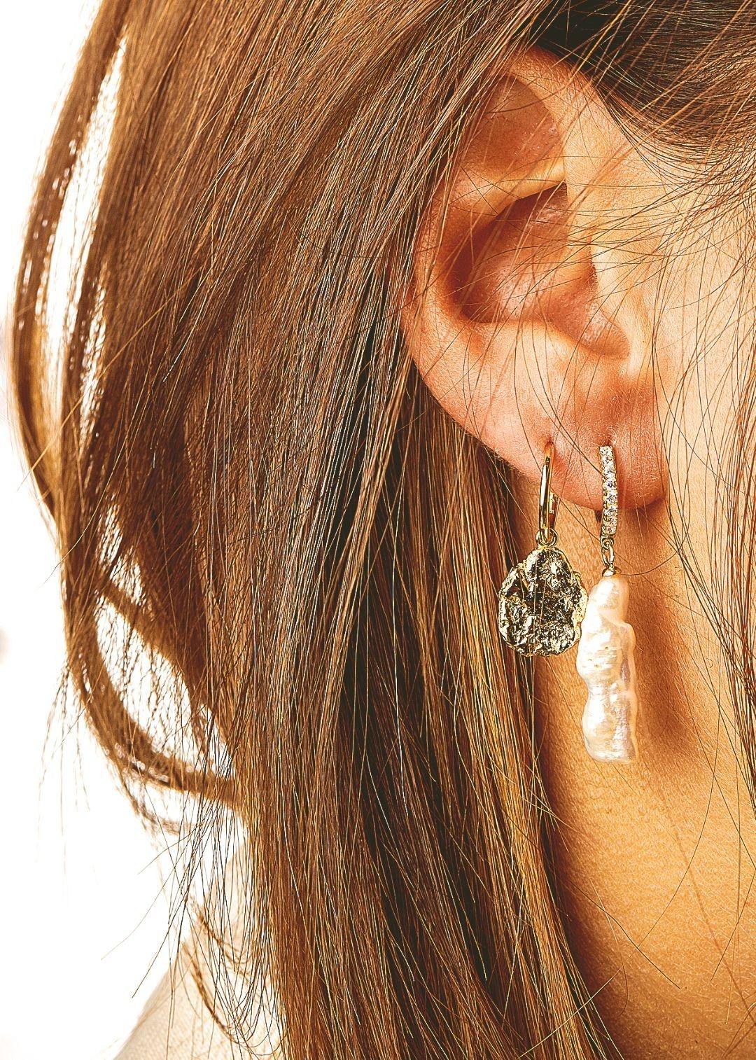 MYA BAY boucles d'oreilles pépites d'or-3