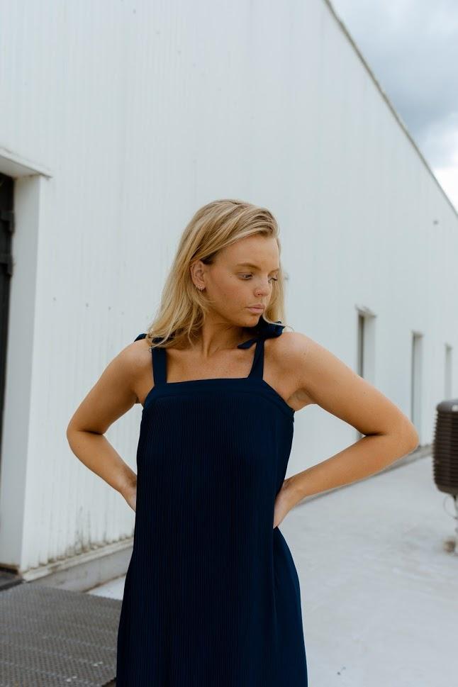 SAMSOE robe longue plissée-4