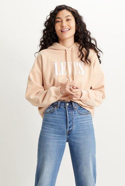 LEVIS sweat hoodie dusk pink
