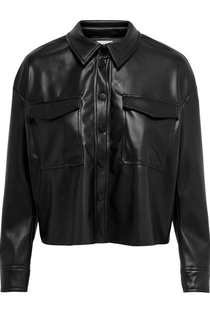 PEPITES only veste marina faux leather