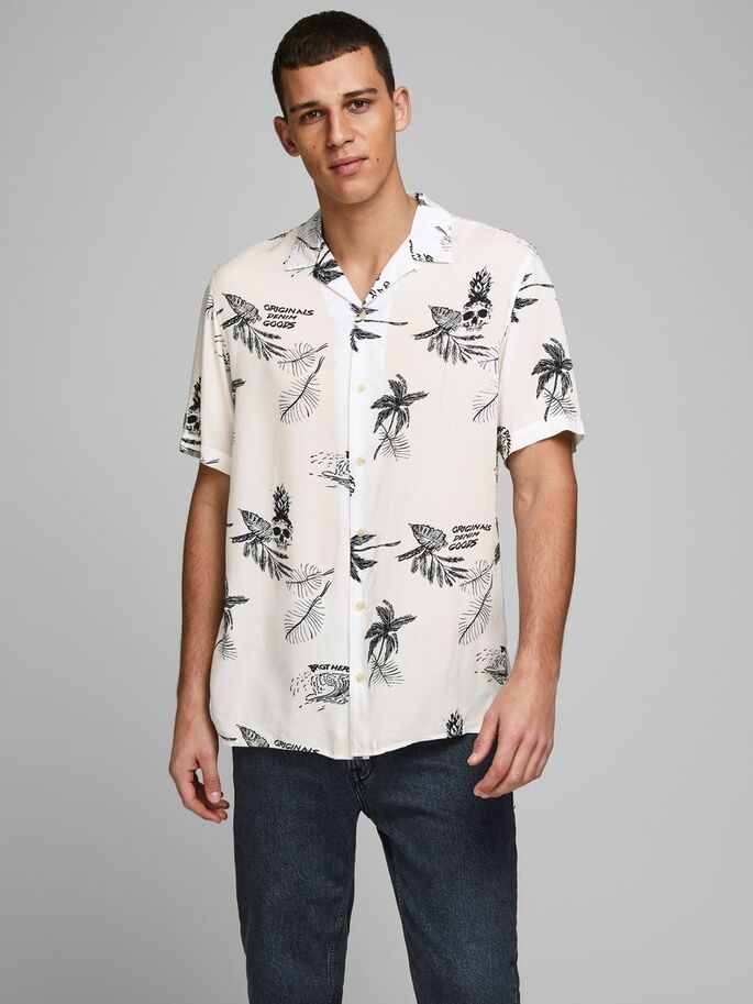 JACK & JONES chemise imprimé palmier-1
