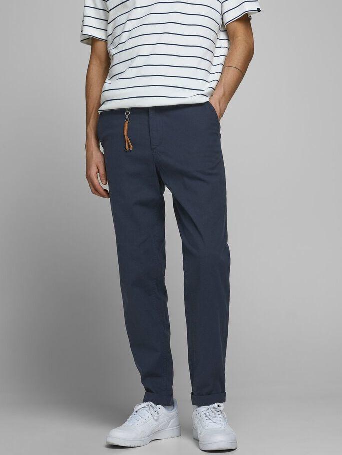 JACK & JONES pantalon lin chino-1
