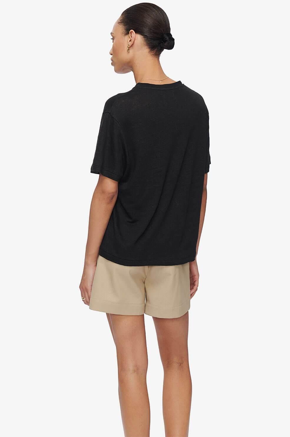 ANINE BING t shirt harper noir-3