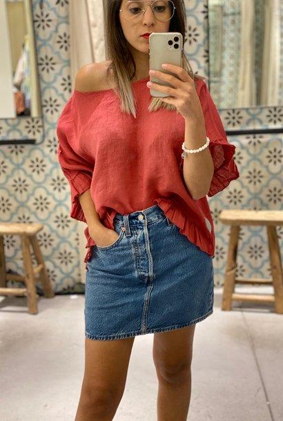 PEPITES blouse evase carene
