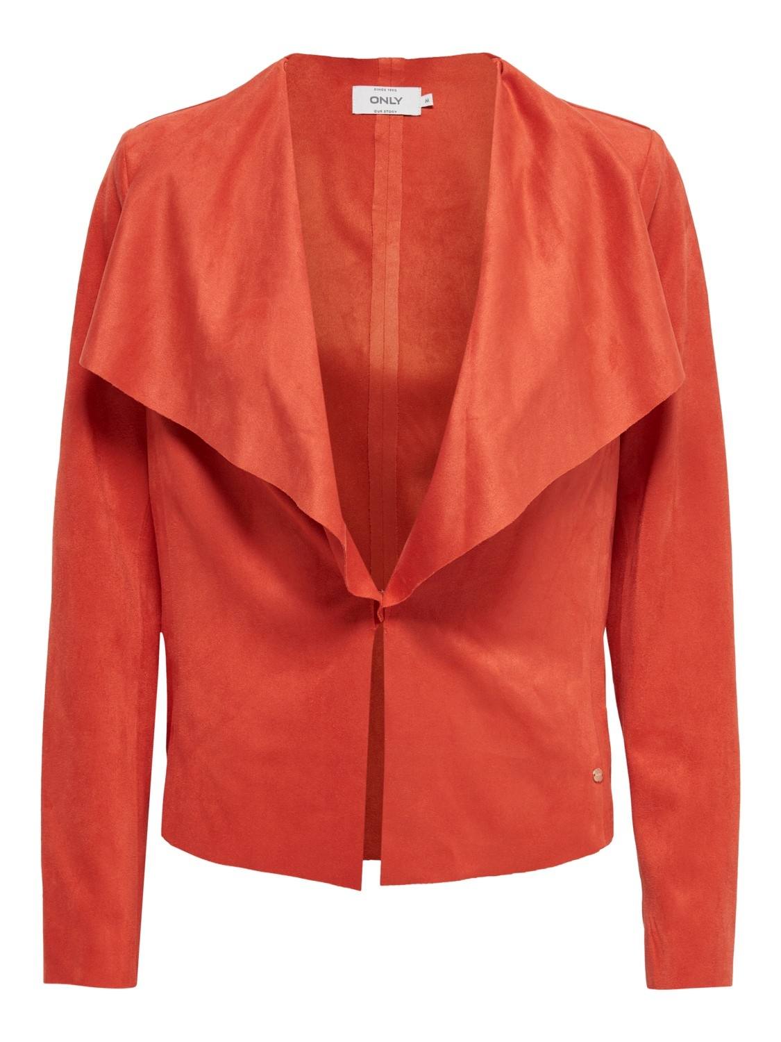 PEPITES only veste stacy drapy faux suede-1