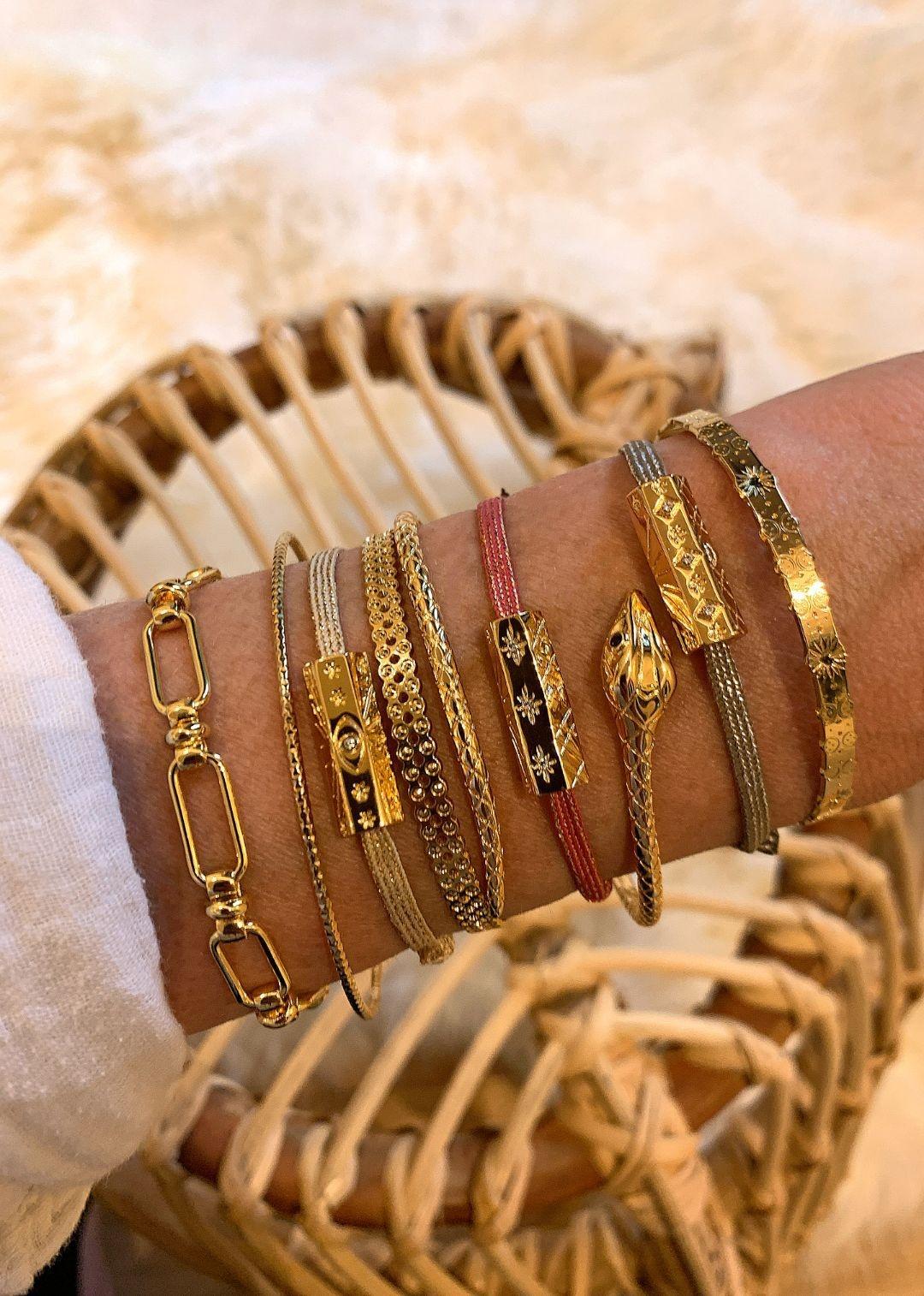 MYA BAY bracelet jonc bulles perlées-2